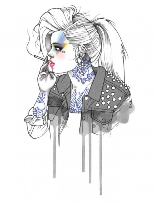 Mujeres Hipster Tumblr Dibujo Imagui