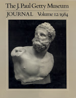 The J. Paul Getty Museum Journal: Volume 12/1984