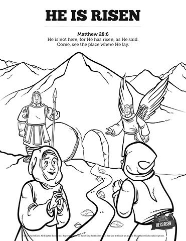 540 Coloring Pages For Sunday School Easter For Free