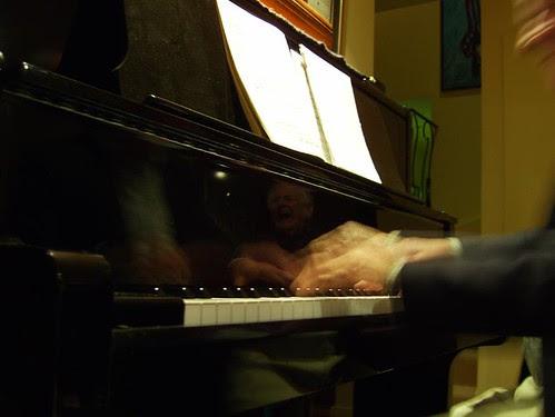 Madam Pat in the piano
