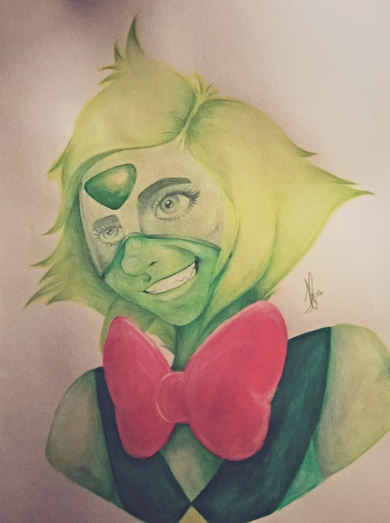 Finished Peridot. I kind of like the original sketch better, but what'cha gonna do.