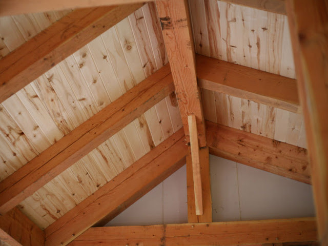 Tongue & Groove Ceiling Installation » Wind River Timberframes