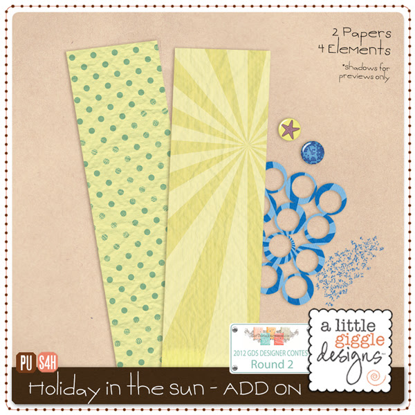 Holiday in the Sun Mini Kit - Add on Freebie {Digital Scrapbooking}