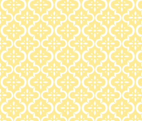 Yellow Ikat Moroccan Flower
