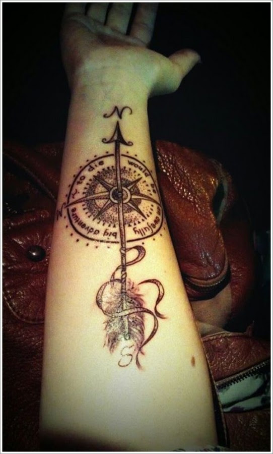 Arrow Tattoos With A Compass Tattoomagz