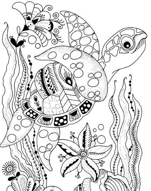 Unique Dolphin and Turtle Coloring Pages - Sket Coloring
