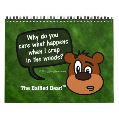Mysterious Questions of The Baffled Bear - 2014 Humor Wall Calendar