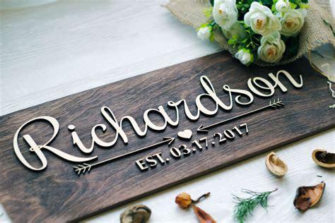 Wedding Last Name Sign, Wedding Established Family Sign