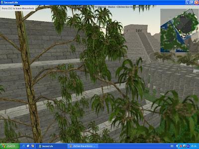 Imagen interior de la visita virtual en Second Life a Chichen Itza