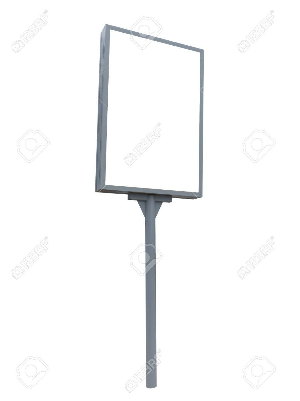 Empty Billboard Gray Transparent Background Stock Photo, Picture ...