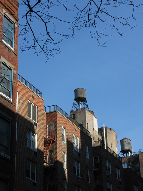 water towers and more on the west side, Manhattan, NYC
