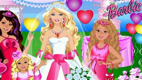 Barbie Wedding Party Dress Up Video Game for Girls   YouTube