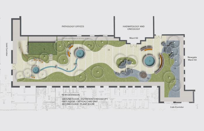 chester hospital courtyard garden landscape plan