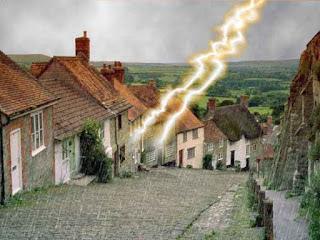 lightning hits house