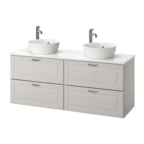 GODMORGON/TOLKEN / KATTEVIK Sink cabinet with top + 15¾ ...
