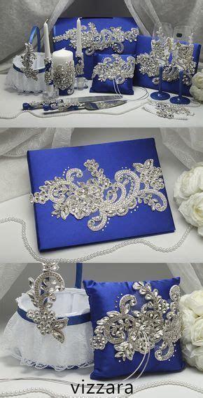 Set Royal blue HAND Painted Wedding card box Wedding cake