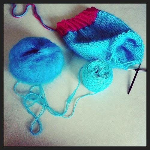 Maty's hat:) almost finished:) Il cappello di. Maty :) quasi finito:)
