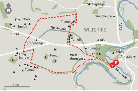Map of Amesbury walk