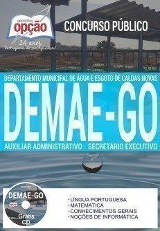Apostila Concurso DEMAE GO 2017   AUXILIAR ADMINISTRATIVO E SECRETÁRIO EXECUTIVO