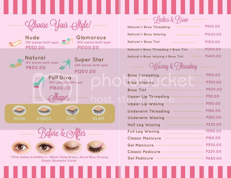 b5fb2d9defc I'm not sure how their rates compare to others eyelash salons, so I'm  posting their price list here for reference. I went with the Glamorous (200  pieces ...