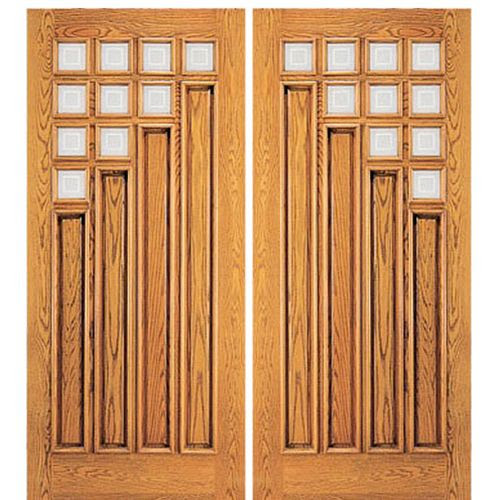 AAW Doors Inc. 106-2 Double Door, Mahogany Contemporary with a ...