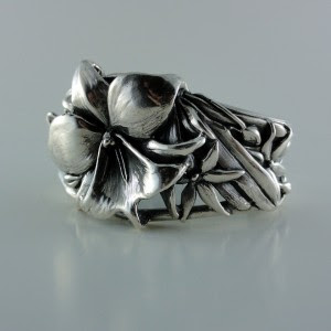 African orchid cuff bracelet