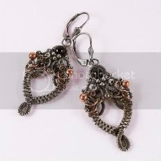 Vesta Goth Art Nouveau Earrings