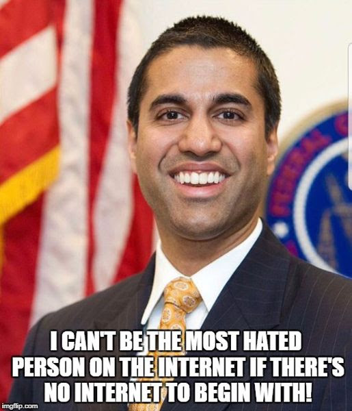 Ajit Pai is yet another idiot U.S. government official who needs to be fired in the Trump era.