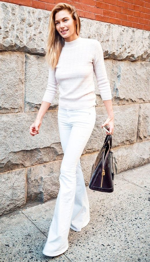 29 Le Fashion Blog 30 Fresh Ways To Wear White Jeans Jessica Hart Flared Denim Via Who What Wear photo 29-Le-Fashion-Blog-30-Fresh-Ways-To-Wear-White-Jeans-Jessica-Hart-Flared-Denim-Via-Who-What-Wear.jpg