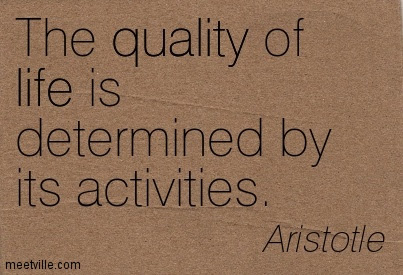 The Quality Of Life Is Determined By Its Activities