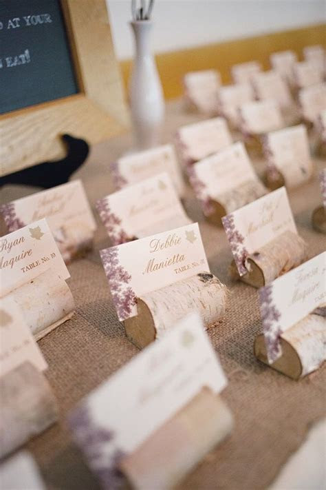Rustic Birch Branch Place Card   Escort Card Holders