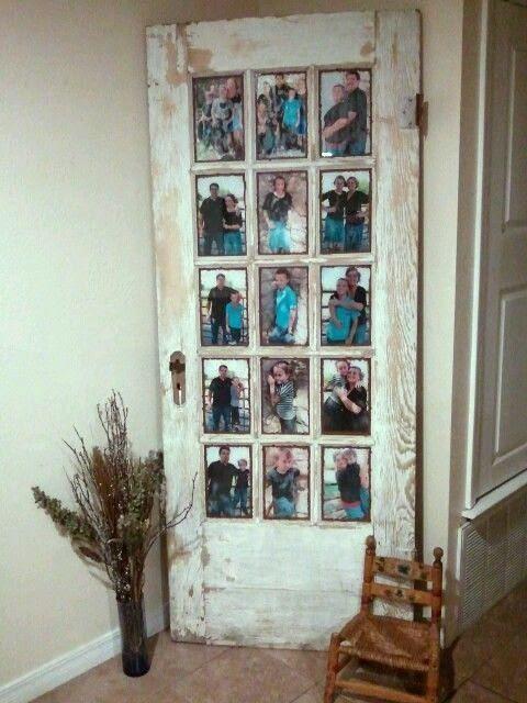 Old Door Picture Frame Ideas