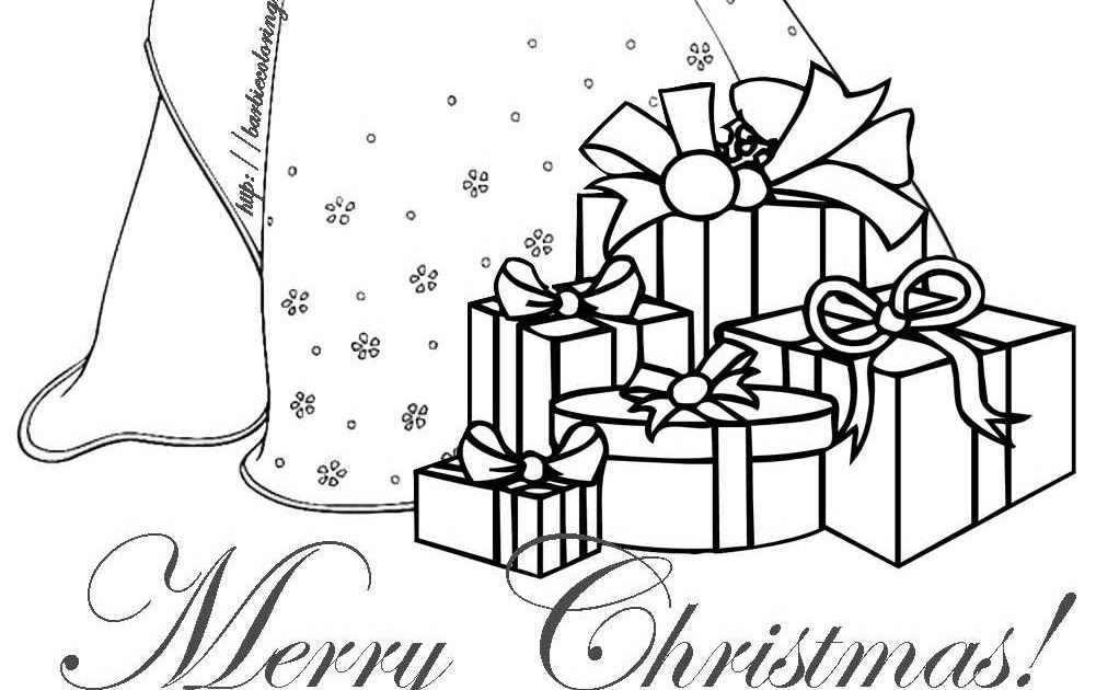 Coloring and Drawing: Barbie Christmas Coloring Pages To Print