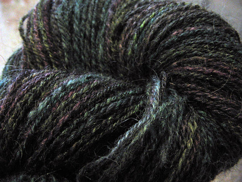 Navajo plied black tones
