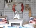 Red, White and Blue -American Flag Decor Meets Nautical Style