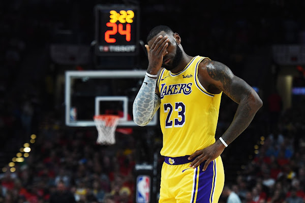 027b7767eca3 LeBron James  Los Angeles Lakers debut ends in defeat at Portland Trail  Blazers