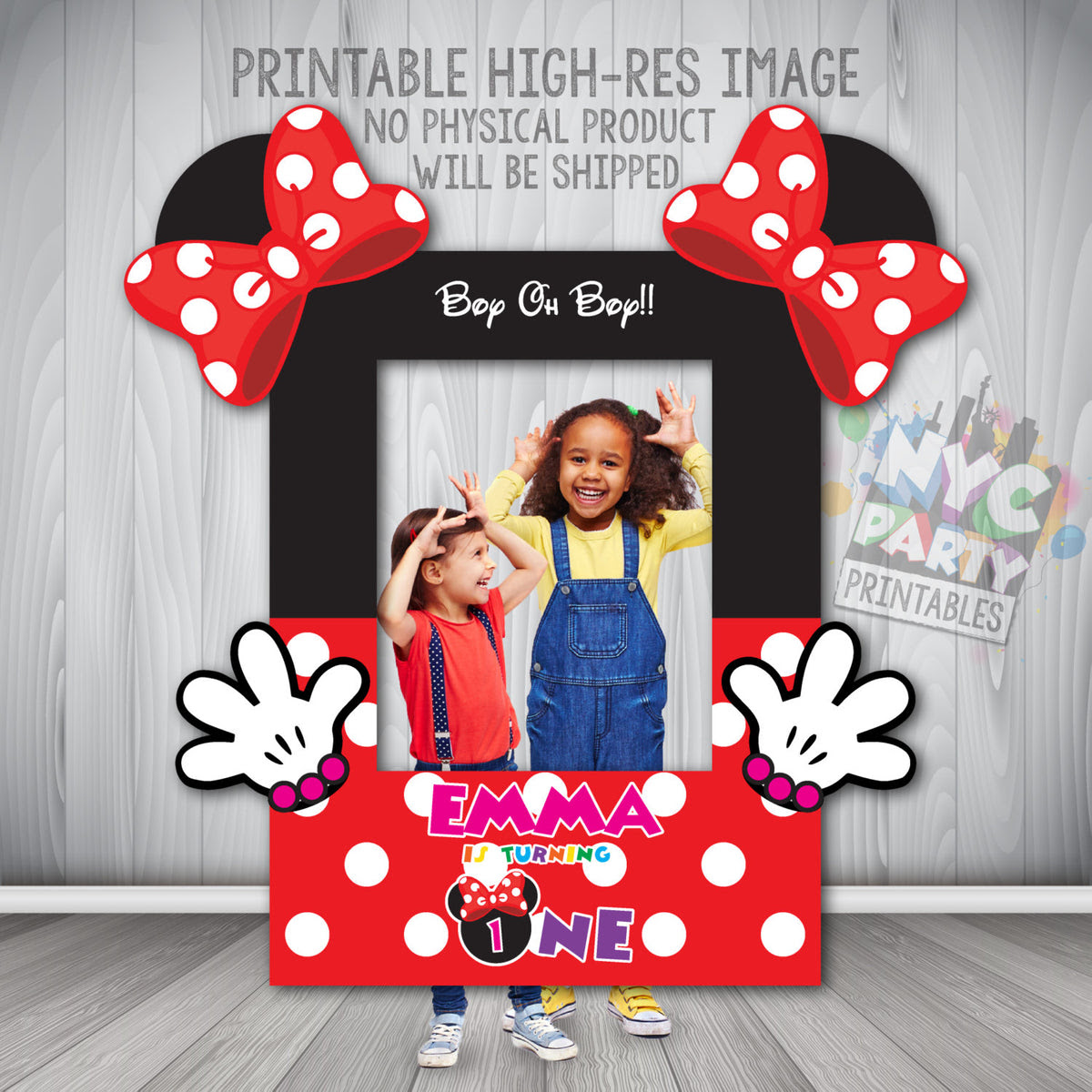 Minnie Mouse Photo Booth Frame Minnie Mouse Photo Booth Printable