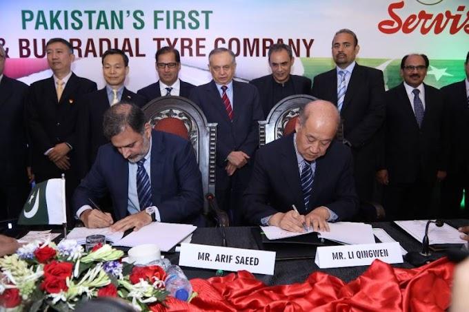Pakistan, China's major tyre companies join hands