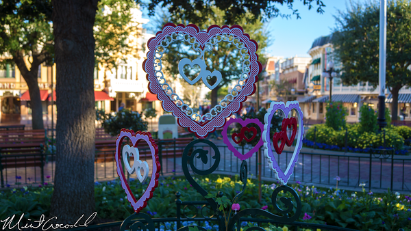 Disneyland Resort, Disneyland, Main Street U.S.A., Valentine, Decorations, Decor