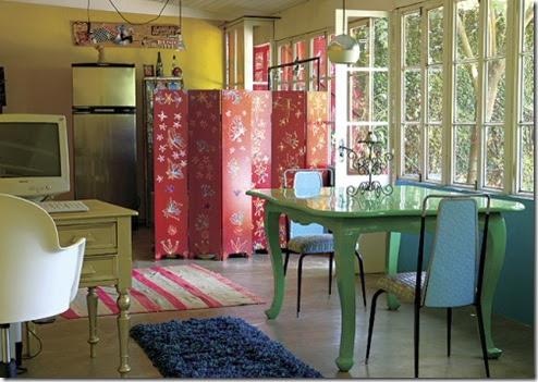 Separando a cozinha numa casa loft