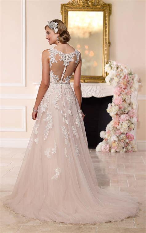 Plus Size Lace Illusion Back Wedding Dresses I Stella York