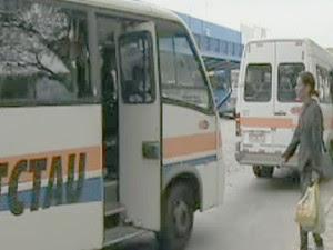Vans do transporte coletivo de Taubaté reduzem valor da passagem (Foto: Reprodução/TV Vanguarda)