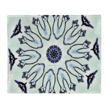 Kaleidoscope Sleepy Parents Throw Blanket