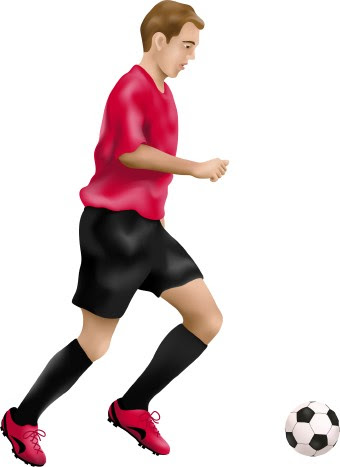 Clip art of a soccer player