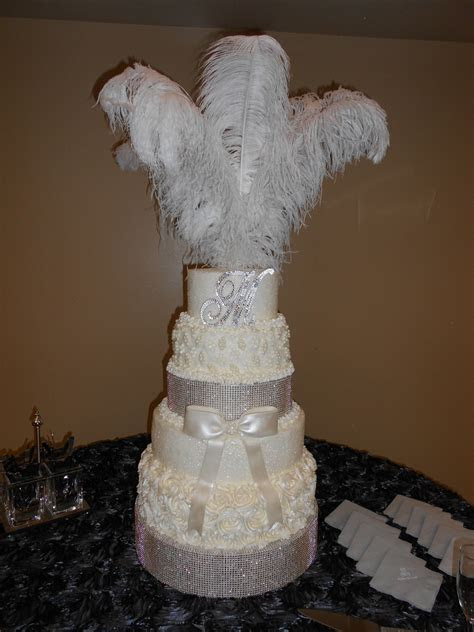 Glitz And Glam Wedding Cake   CakeCentral.com