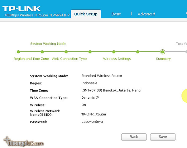 TP-LINK TL-WR941HP Router Mode Setting wireless dan password