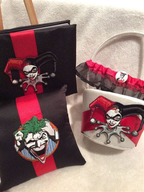 piece harley quinn   joker wedding set