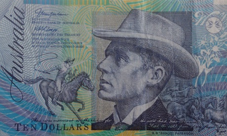 An Australian ten-dollar note featuring Banjo Paterson