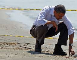 Pres. Obama Inspects the Damage