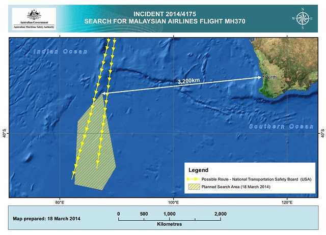 MH370 AMSA Au search